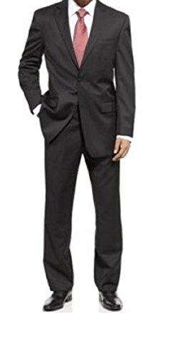 (Michael Kors Mens Solid Black Wool Suit)
