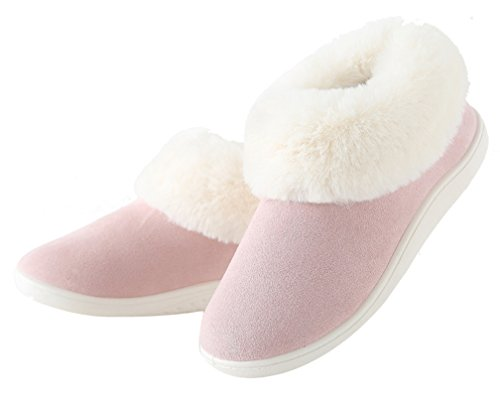 Cattior Womens Fur Lined Warm Slippers Indoor Outdoor Slipper Shoes Pink gCf8J