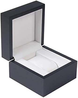 HRSS Holz Uhrenbox anizer Holz WatchDisplay Collection Uhr Schmuckkollektion Fall (Farbe: Schwarz, Größe: 11.5X11.5X8CM) (Color : Black, Size : 11.5X11.5X8CM)