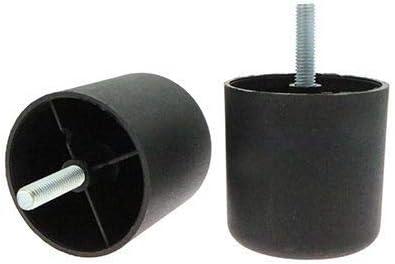Pack de 4 patas roscadas para sofá, muebles, altura ajustable, patas de repuesto, patas de muebles, 60 mm de diámetro, rosca M8