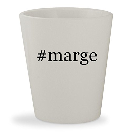 #marge - White Hashtag Ceramic 1.5oz Shot - Bailey Glasses Nelson