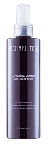 Michael Todd - Organic Lemon AHA+DMAE Toner| Exfoliates and Firms, Improves Skin Tone and texture for Normal to Oily and Problem Skin (8.4 Ounce)