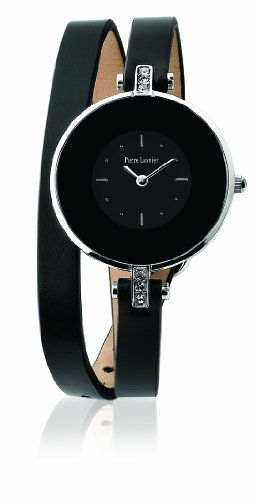 montre femme bracelet cuir noir. Black Bedroom Furniture Sets. Home Design Ideas