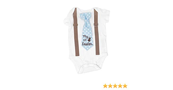 7f0bc3100 Amazon.com: Cuddle Sleep Dream Baby Boy First Easter Outfit. My 1st Easter  Bodysuit Easter Bunny Clothes.: Clothing