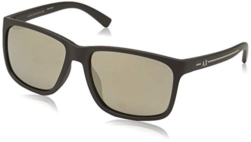 Armani Exchange 0ax4041sf Square Sunglasses, matte brown, 57.0 ()