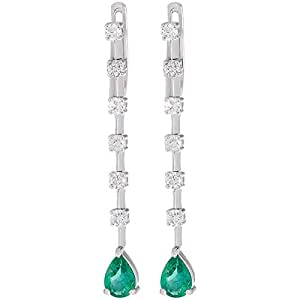 Amal Women's White Gold Diamond Earrings