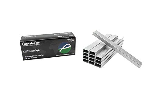 Praxxis Pro 26/6 Standard Staples, Silver, 5000 Count (CS26/6-SB5000)