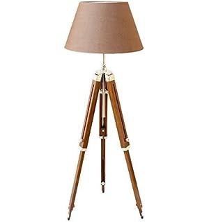 Designer royal nautical tripod floor lamp antique look teak wood thor classical designer marine tripod floor lamp retro vintage wooden tripod lamp silver mozeypictures Choice Image