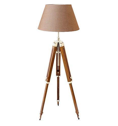 THOR Classical Designer Marine Tripod Floor Lamp Retro Vintage Wooden...