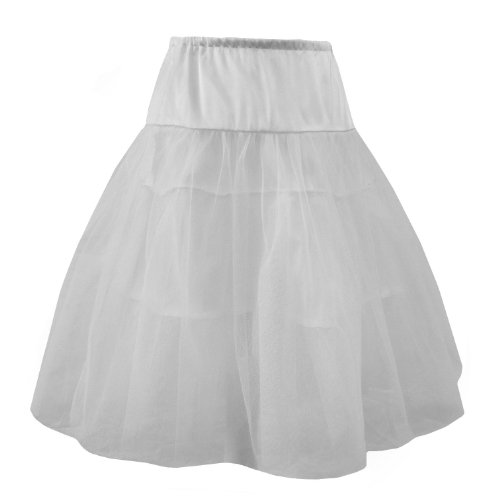 Burlesque Costumes Size 22 (White - Organza Net And Satin Rockabilly, Burlesque Petticoat / Underskirt. Size 22-28 White)
