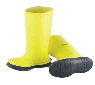 12 Overboot Industries Self Cleaning PVC Yellow Outsole Slicker Size Cleated 17