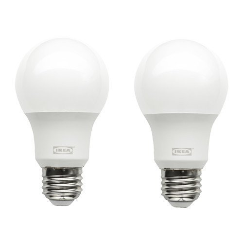RYET LED bulb E26 600 lumen, globe opal 2 pack Light Opal Globe
