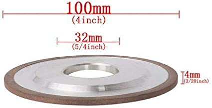100mm Dia Abrasive Wheels Discs Resin Diamond Grinding Wheel with 32mm Bore,4mm Thick Grit 240
