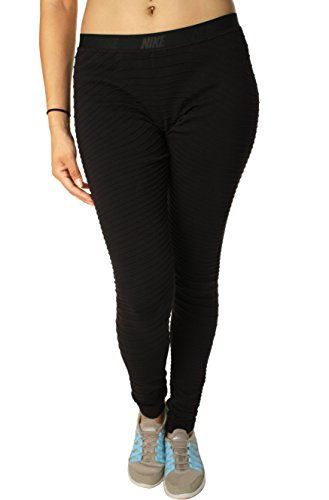 Nike Women's Dri-Fit Ottoman Knit Nylon Training Pants, Black, Medium
