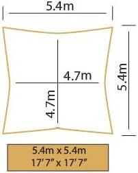 Kookaburra Wasserfest Sonnensegel 3,0m Dreieck Gr/ün