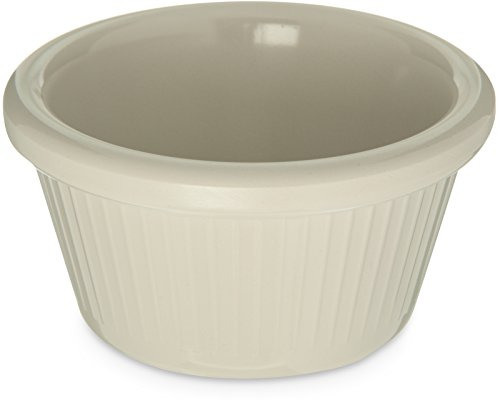 - Carlisle S27942 Melamine Fluted Ramekin, 2 oz. Capacity, Melamine, Bone (Case of 48)