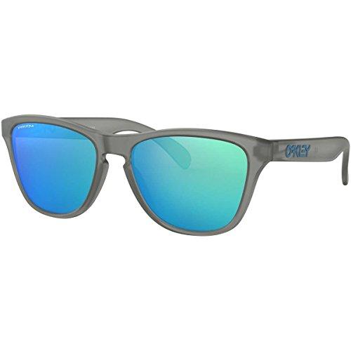 Oakley boys OJ9006 Frogskins XS Round Sunglasses, Matte Grey Ink/Prizm Sapphire, 53 mm (Oakleys Frogskin)