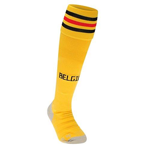 ステンレス原始的な野望2018-2019 Belgium Away Adidas Football Socks (Yellow)