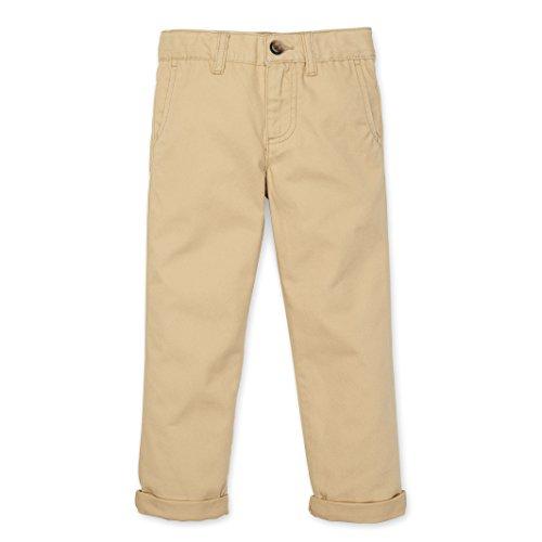 Fabric Twill Organic - Hope & Henry Boys' Khaki Twill Chinos Size 6