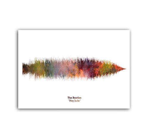 Lab No. 4 The Beatles Hey Jude Song Soundwave Music Print ()