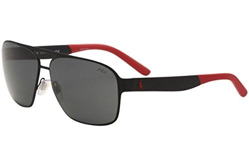 Polo Ralph Lauren Men's Metal Man Square Sunglasses, Rubber Black, 62 - Ralph Polo Lauren Sunglasses