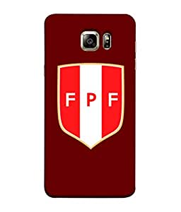 ColorKing Football Peru 07 Red shell case cover for Samsung S6 Edge Plus