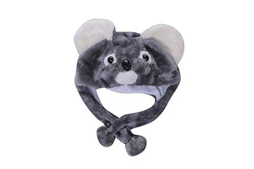 Animal Plush Earmuff Winter Warm Fluffy Cap 2 (Koala) -