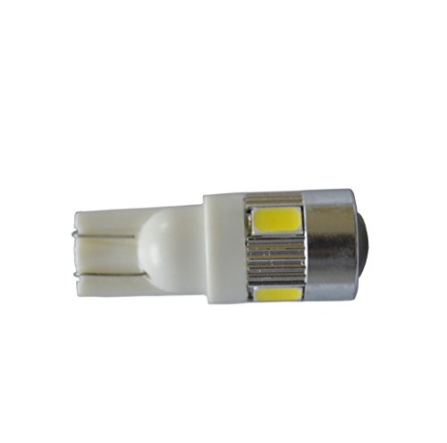 ZJKC® 2 Pack Bright 5630 SMD W5W T10 Car LED light, Replacement and Reverse T10 White Bulbs Accessories Piaa Driving Light