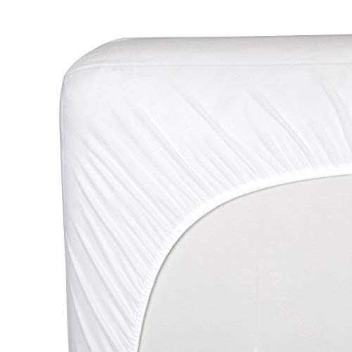 Sealy Healthy Grow Infant/Toddler Fitted Crib Mattress Pad Hypoallergenic, Fitted Skirt, & Dryer