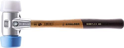 SIMPLEX-Schonhämmer, 50 zu 40, mit Aluminiumgehäuse und hochwertigem Holzstiel | Ø=50 mm | 3117.051