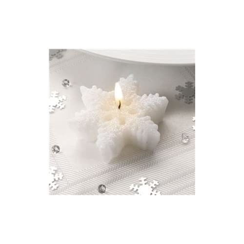 Flocon de neige Bougies (lot de 3)