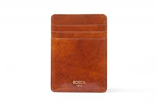 Bosca Mens Old Leather - Bosca Men's Old Leather Front Pocket Wallet (Amber)