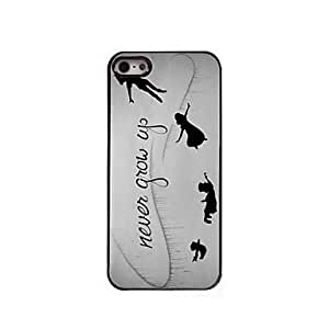 ZXC Never Grow Up Design Aluminum Hard Case for iPhone 5/5S