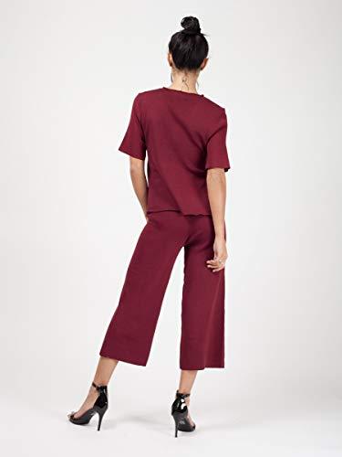 42 Fashions Eur Momo Femme Du Avec Pour Taille Loungewear Courte Cravate Devant Et Culotte 36 Vin amp;ayat PFqAFx6