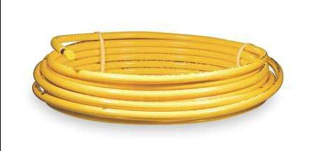 Plastic coated Yellow coil,5/8 OD 50 ft.