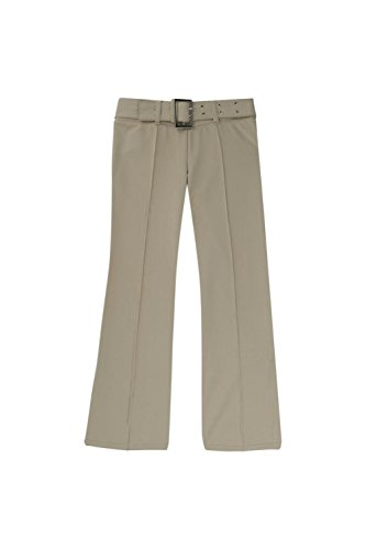 French Toast School Uniform Girls Pull On Self Belt Pants, Khaki, ()