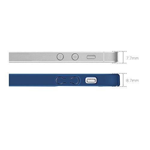 iPhone 5se/5S/5custodia, Fansong ultra slim anti-graffio resistente agli urti coperchio custodia per iPhone 5se/5S/5custodia (nero)