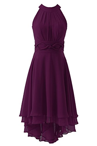 - DYS Women's Short Bridesmaid Dresses Hi Lo Prom Homecoming Dress Chiffon Plum US 4