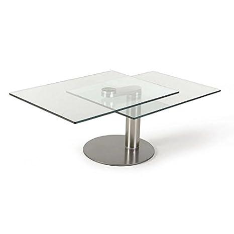designement Nao Tavolino, Vetro, Trasparente, 130 x 65 x 45 cm ...