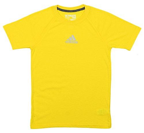 Graphic Soccer Short Sleeve Tee (adidas Boys' Climalite Short Sleeve Graphic Tee,Super Yellow Large (14/16))
