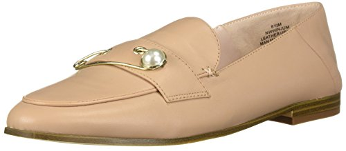 Nine West Women's Winjum Leather Loafer Flat, Light Natural