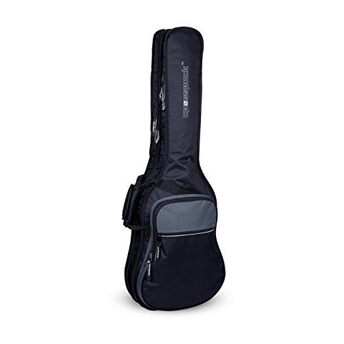 Electric Rock Guitar Bag - Crossrock CRSG106DEBG Double 2x Electric Guitar Gig Bag -With Padded Adjustable backpack Straps, Black/Grey