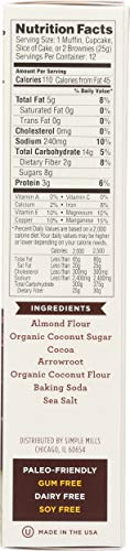 Simple Mills Almond Flour Baking Mix, Gluten Free Chocolate Cake Mix, Muffin pan ready, Made with whole foods, (Packaging May Vary), 11.2 Ounce (Pack of 1) 6