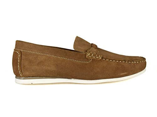 uomo Warren Street Silver Scarpe barca Brown da marrone London qzW1wO7