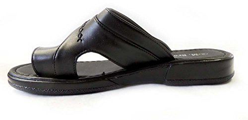 Shoes Brother M Hold Light WEIGHT Toe Comfort Mens Sandals Slides 08205 New BLACK Flat qtdxrwadSA