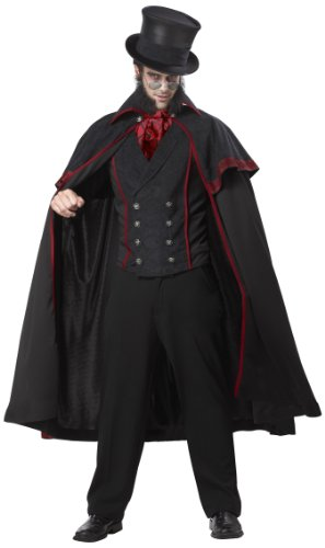 California Costumes Jack The Ripper Set, Black/Red, Large -