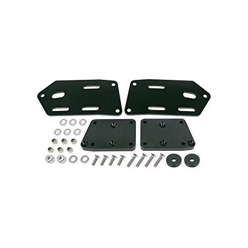 TSP 81150BK GM LSX to Fox Body Mustang Motor Mount Adapter Plate Kit, Black (Ls Motor Mounts For Fox Body Mustang)