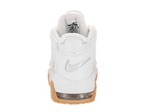 Nike Air Uptempo GS Big Kids Basketballschuhe Weiß / Tief Royalblau Weiß, Weiß-bmb-gm Lght Brwn