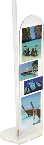 EVIDECO 6701370 Paradise Bathroom Freestanding Printed Toilet Tissue Paper Roll Holder Reserve 4 Rolls