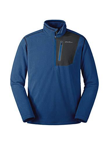 - Eddie Bauer Men's Cloud Layer Pro 1/4-Zip Pullover, True Blue Regular XXL